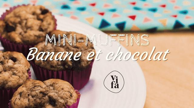 VIDÉO: Mini-muffins banane et chocolat