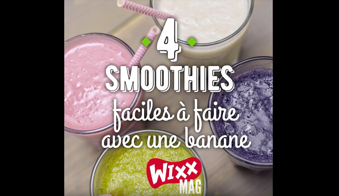 4 smoothies faciles à faire avec une banane