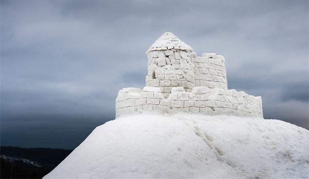 10 châteaux de neige à construire cet hiver