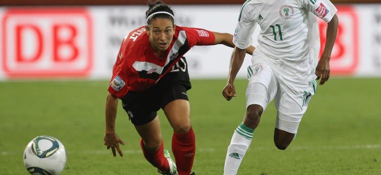 Entrevue avec Marie-Ève Nault à la Coupe du monde de soccer féminin en juillet 2015