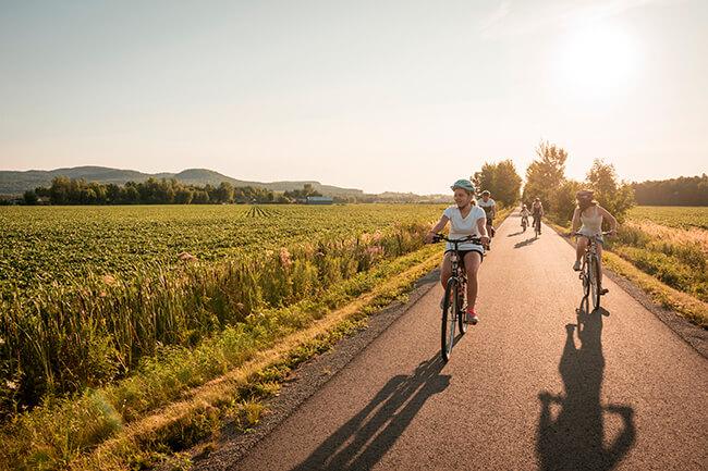 Parcourir les pistes cyclables de la Monteregie