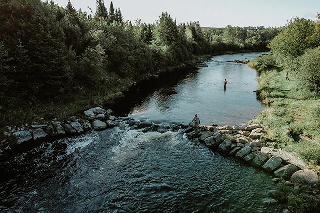Rivière Nicolet vue du ciel