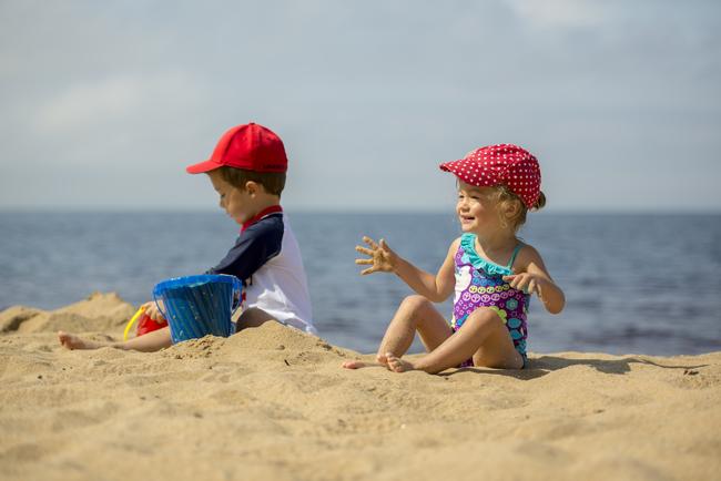 vacance famille avec les enfants et petits enfants au lac st jean Pointe Taillon