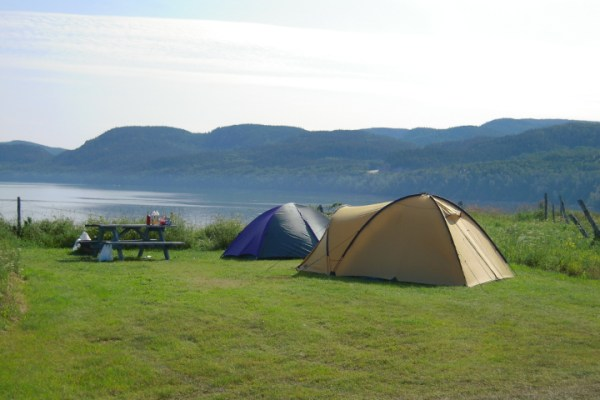 camper avec chien au camping du fjord