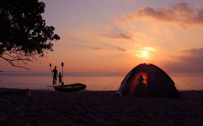 camping sur plage en Ontario