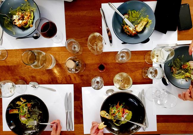 Assiettes d'un repas gastronomique signé Chef Nath