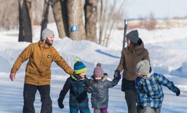 Parc de l'île Saint-Quentin, un environnement naturel pour profiter des joies de l'hiver (Trois-Rivières)