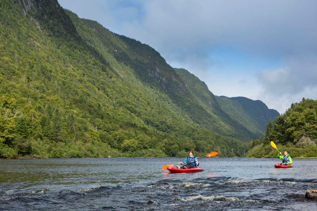 kayak valle parc national jacques cartier