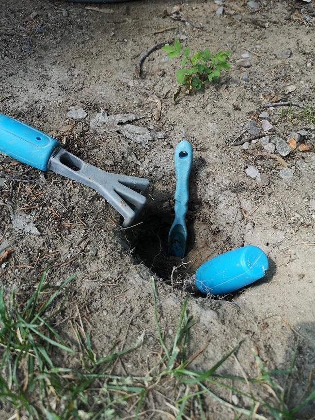 pelle râteau et ustensile pour creuser dans la terre