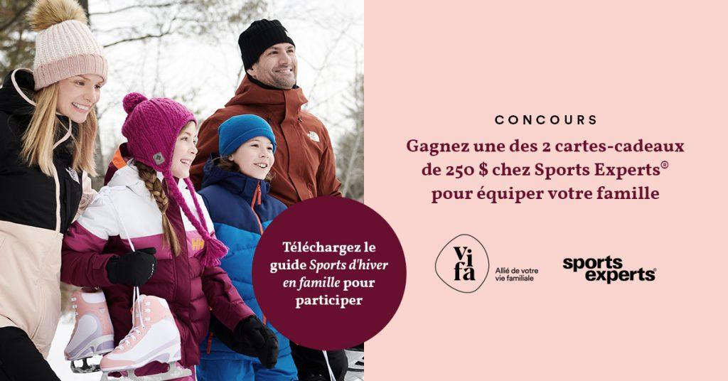 Concours téléchargez le guide Sports d'hiver en famille