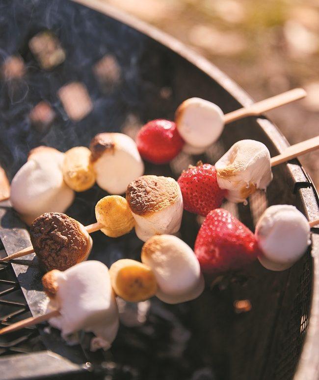 Recette de Chamallow Kebab à cuisiner en camping