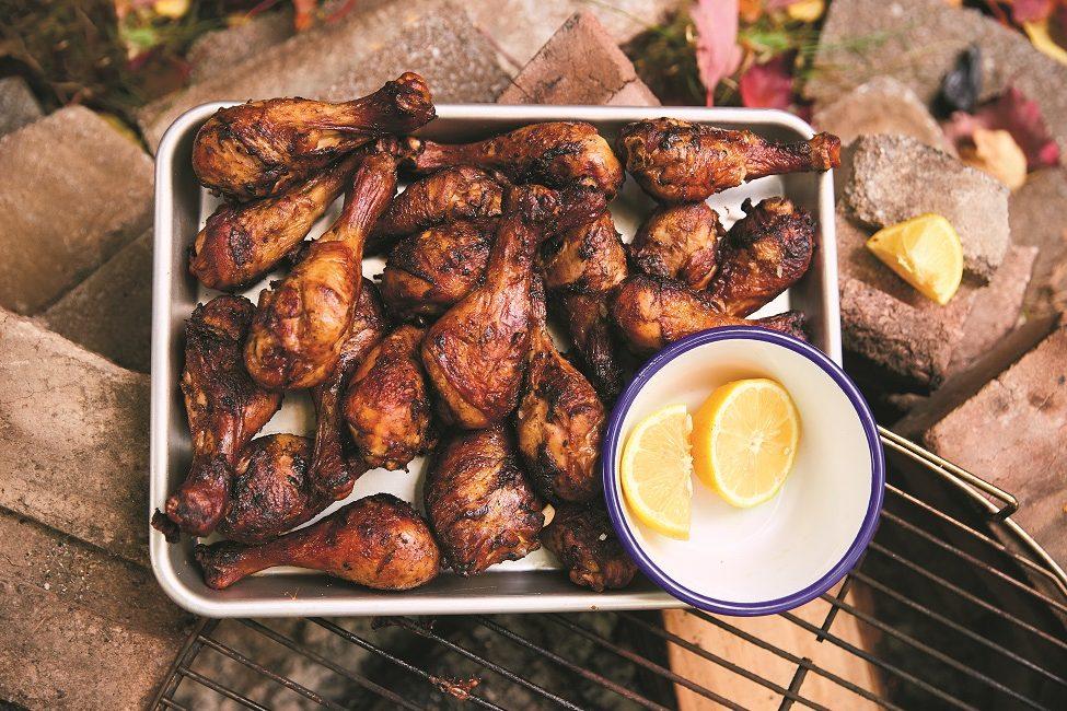 Pilons de poulet soja-citron à-manger-avec-les-doigts